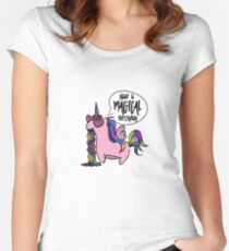 "Unicorn T-shirt kid's T-shirt for girls ""Happy B-day!"" Women's Fitted Scoop T-Shirt"