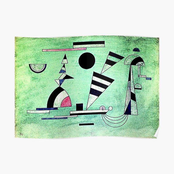 Immersed in Green, abstract art by Kandinsky Poster