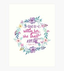 Psalm 46:5 Art Print