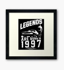 Legends Are Born In 1997 Framed Print
