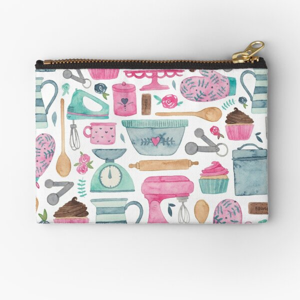 Vintage Baking Pattern Zipper Pouch