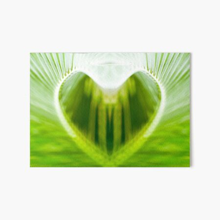 Green Palm Heart Art Board Print