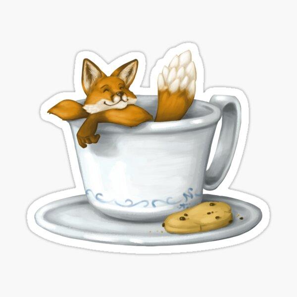 Coffee Fox Sticker