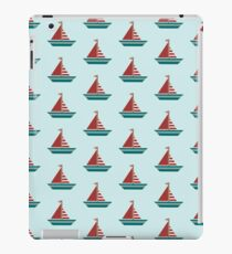 Red, White, and Blue Sailboat iPad Case/Skin