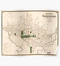Vintage Map of Washington DC (1876) Poster