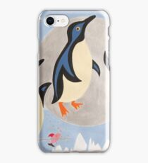 Penguins Playing with the Moon iPhone Case/Skin