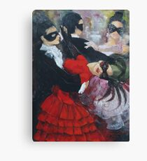 Romance in the waltz steps (1) Canvas Print