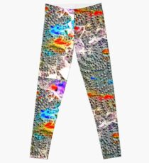 Petit motif abstrait façon relief Leggings