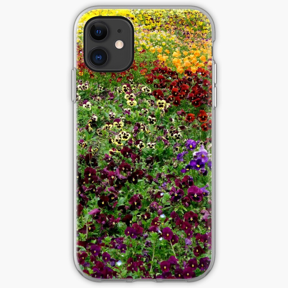 Pansy Garden iPhone Case & Cover