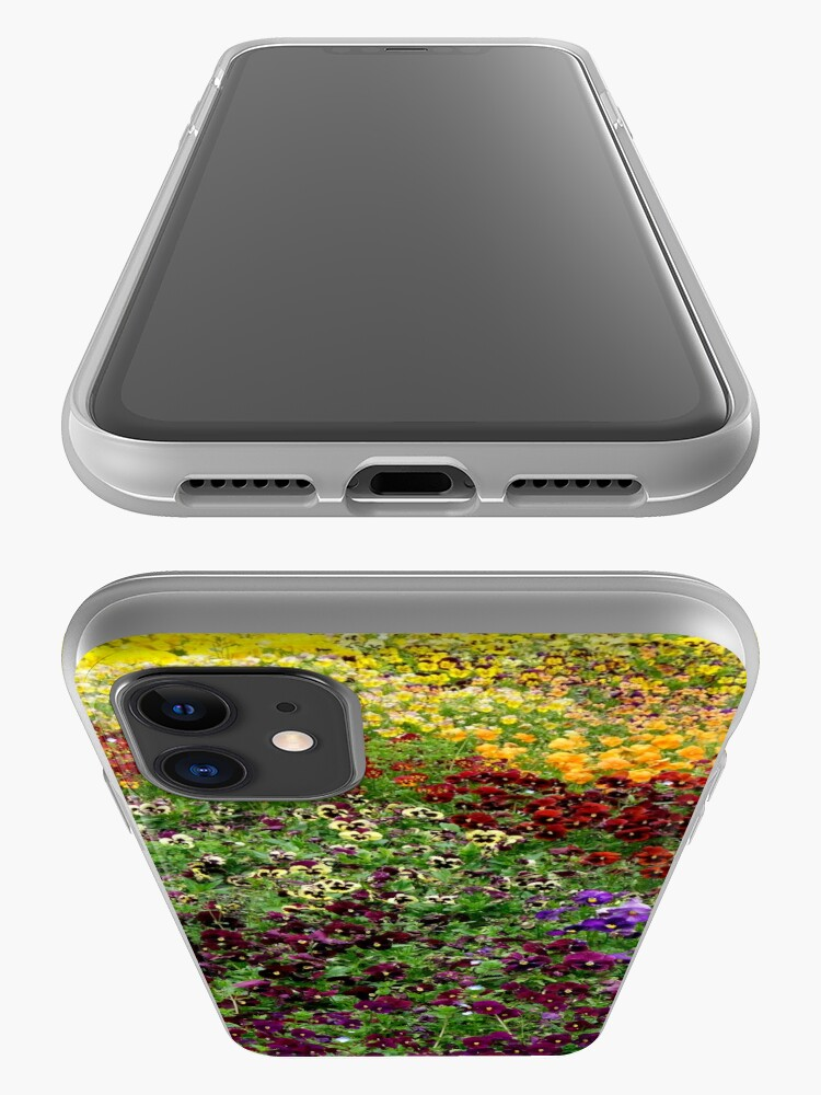 Alternate view of Pansy Garden iPhone Case & Cover