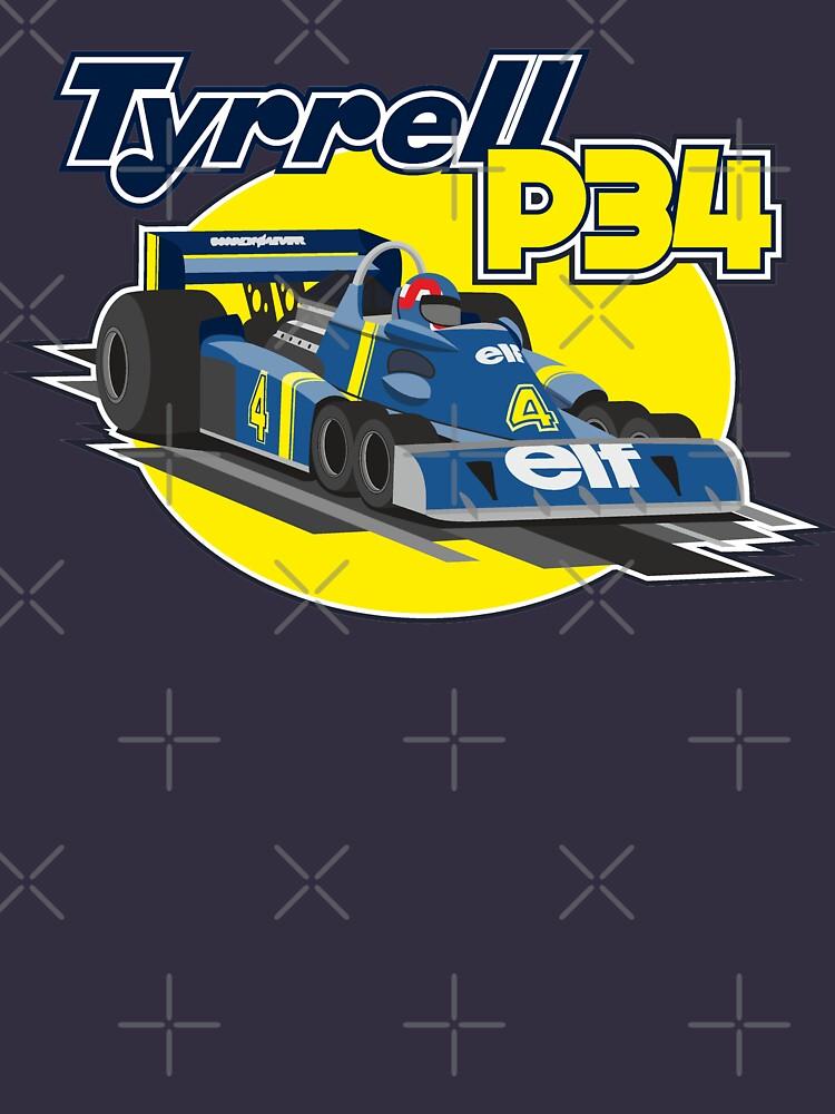 Tyrrell P34 by SpeedFreakTees