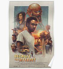 Póster Childish Gambino - Porque el cartel de la película de Internet (HD)