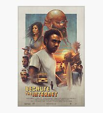 Childish Gambino - Because The Internet Movie Poster (HD) Photographic Print