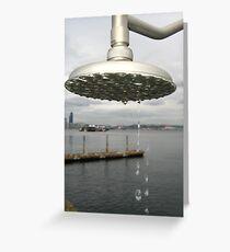 Shower @ Alki Greeting Card