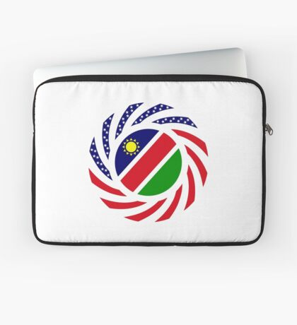 Namibian American Multinational Patriot Flag Series Laptop Sleeve