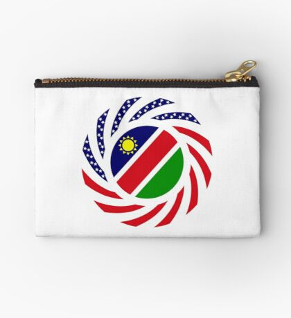 Namibian American Multinational Patriot Flag Series Zipper Pouch