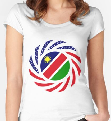 Namibian American Multinational Patriot Flag Series Fitted Scoop T-Shirt
