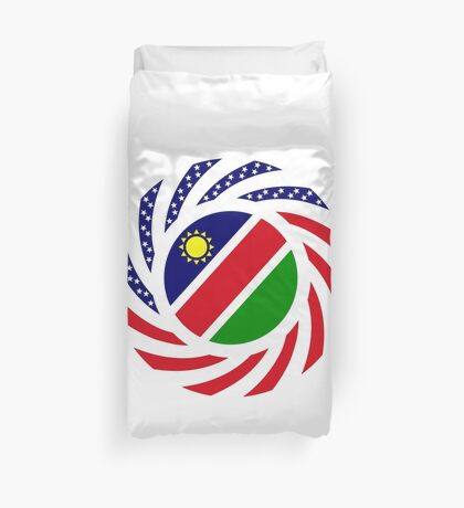 Namibian American Multinational Patriot Flag Series Duvet Cover