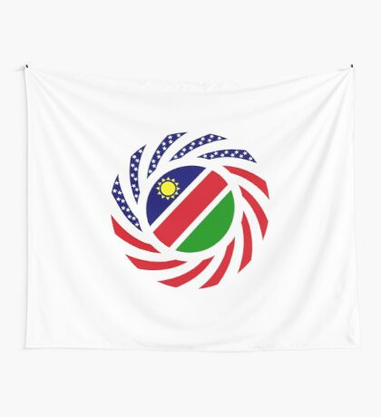 Namibian American Multinational Patriot Flag Series Wall Tapestry
