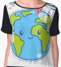 Cute Earth day T-shirts & Hoodies Chiffon Top