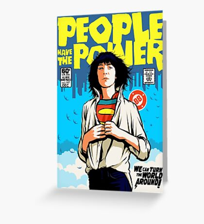 Power To The People Greeting Card
