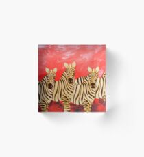 Zebra Collage Acrylic Block