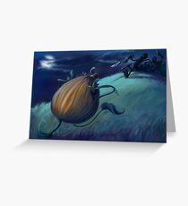 Slashing Pumpkins Greeting Card