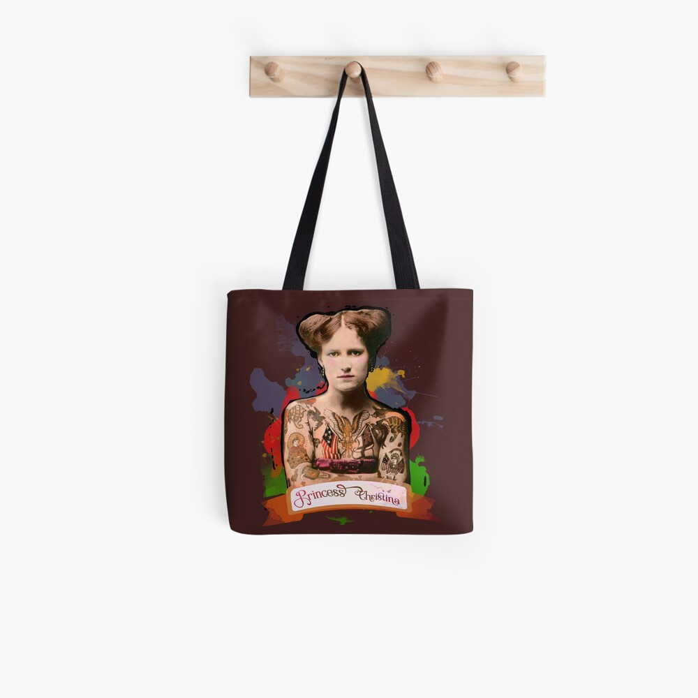 Princess Christina (The Tattooed lady) - The Britannia Panopticon Tote Bag
