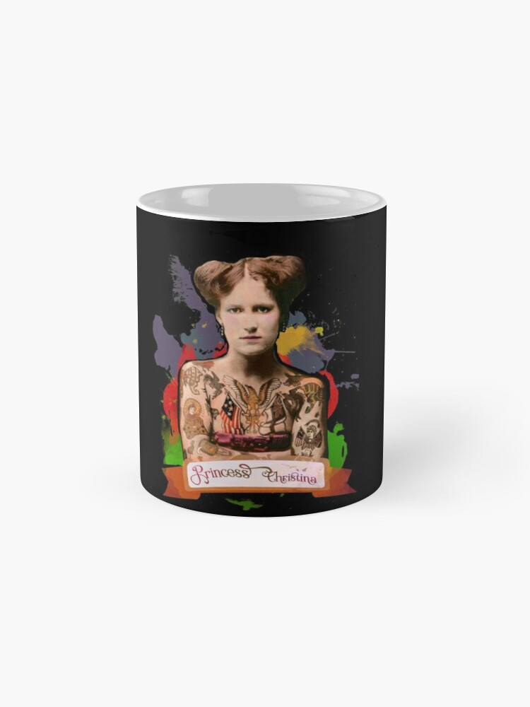 Alternate view of Princess Christina (The Tattooed lady) - The Britannia Panopticon Mug
