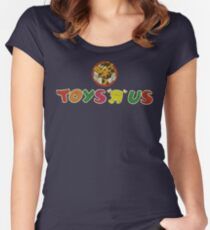 """Toys """"Я"""" Us Vintage 1986 Women's Fitted Scoop T-Shirt"""