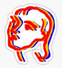 matisse woman sketch primary colors Sticker