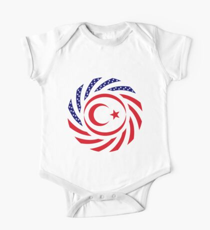 Northern Cyprus American Multinational Patriot Flag Series Kids Clothes