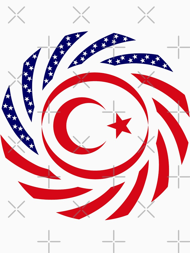 Northern Cyprus American Multinational Patriot Flag Series by carbonfibreme