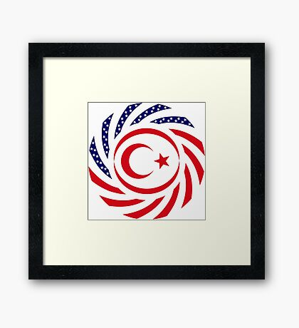 Northern Cyprus American Multinational Patriot Flag Series Framed Print