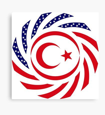 Northern Cyprus American Multinational Patriot Flag Series Canvas Print
