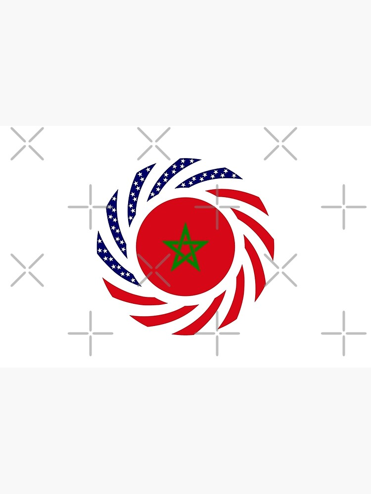 Moroccan American Multinational Patriot Flag Series by carbonfibreme