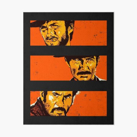 The Good, the Bad and the Ugly - Cinema  Art Board Print