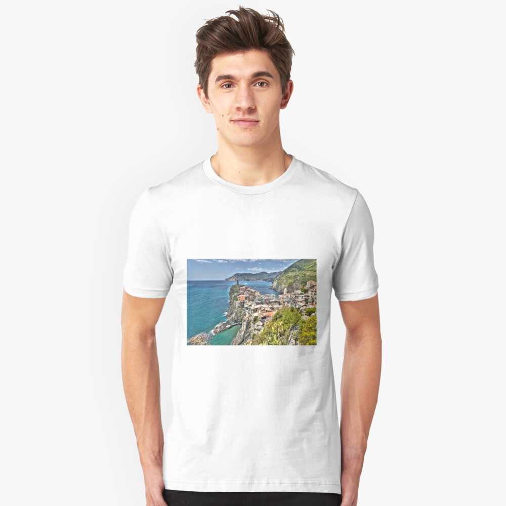 Vernazza Back View Unisex T-Shirt Front