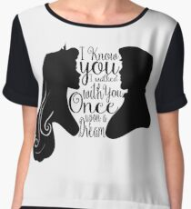 I Know You, I Walked With You Once Upon a Dream Chiffon Top