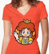 Camiseta entallada de cuello en V Princesa de Sarasaland