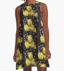 Yellow Tulips Welcome Spring! A-Line Dress