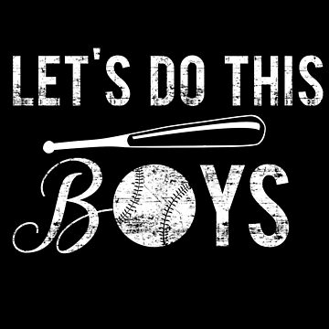 Let's do this boy's Baseball Lover Ball Game Distressed Vintage Gear by glendasalgado