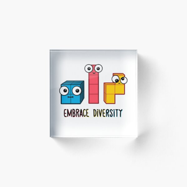 Embrace Diversity Acrylic Block