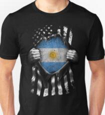 Argentine American Flag USA Argentina Unisex T-Shirt