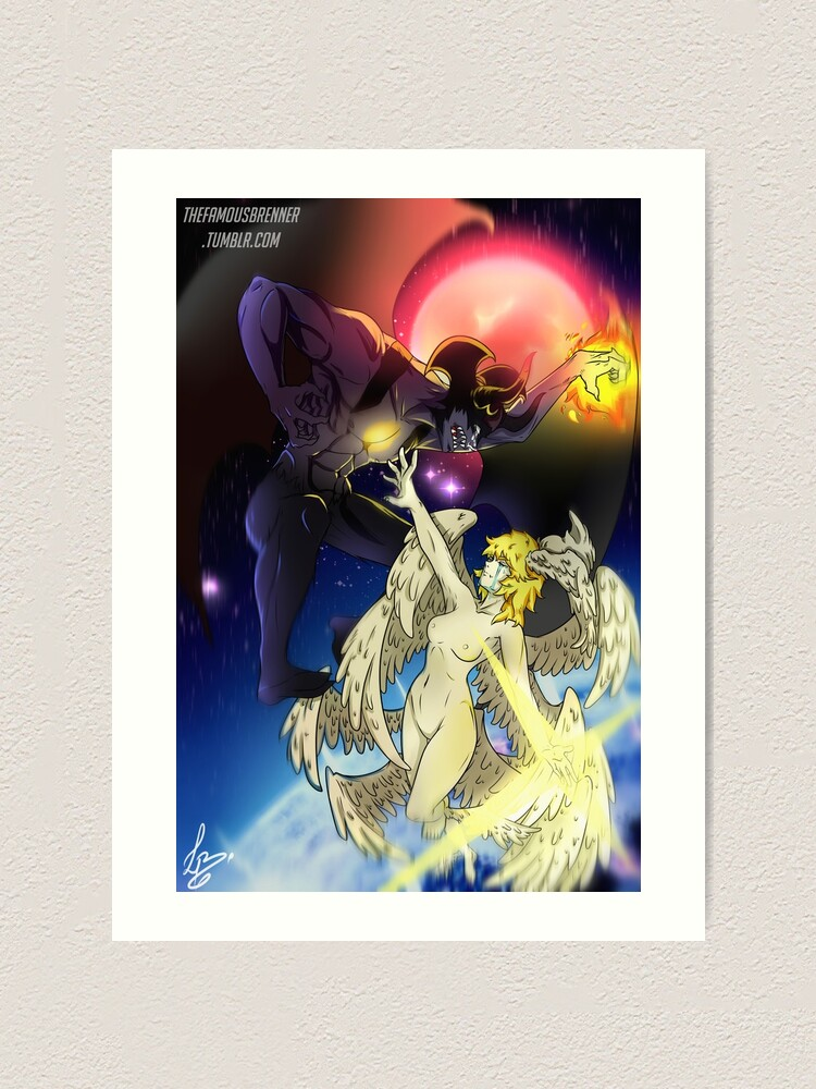 Devilman Crybaby Akira X Ryo Art Print By Lucasbrenner Redbubble