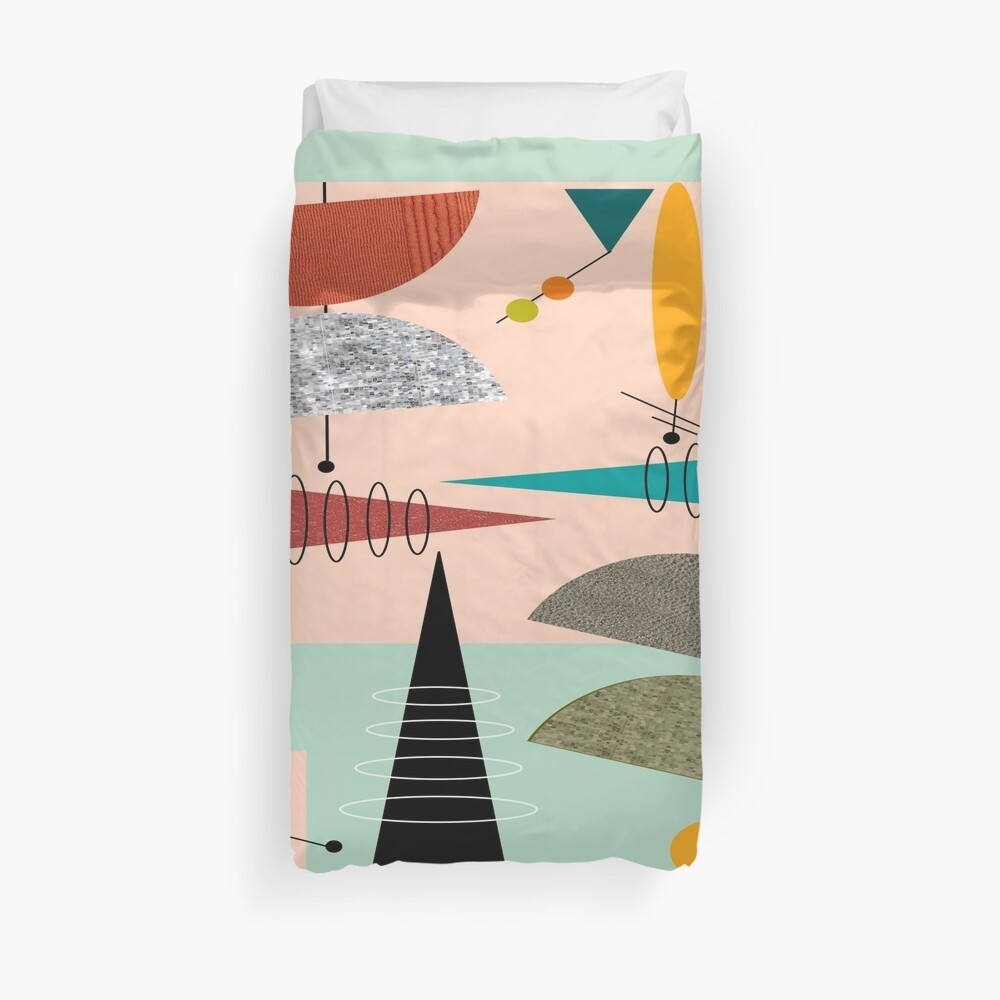 Mid-Century Modern Abstract #39 Duvet Cover
