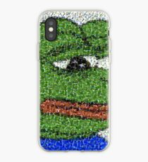 Sad Pepe Collage iPhone Case