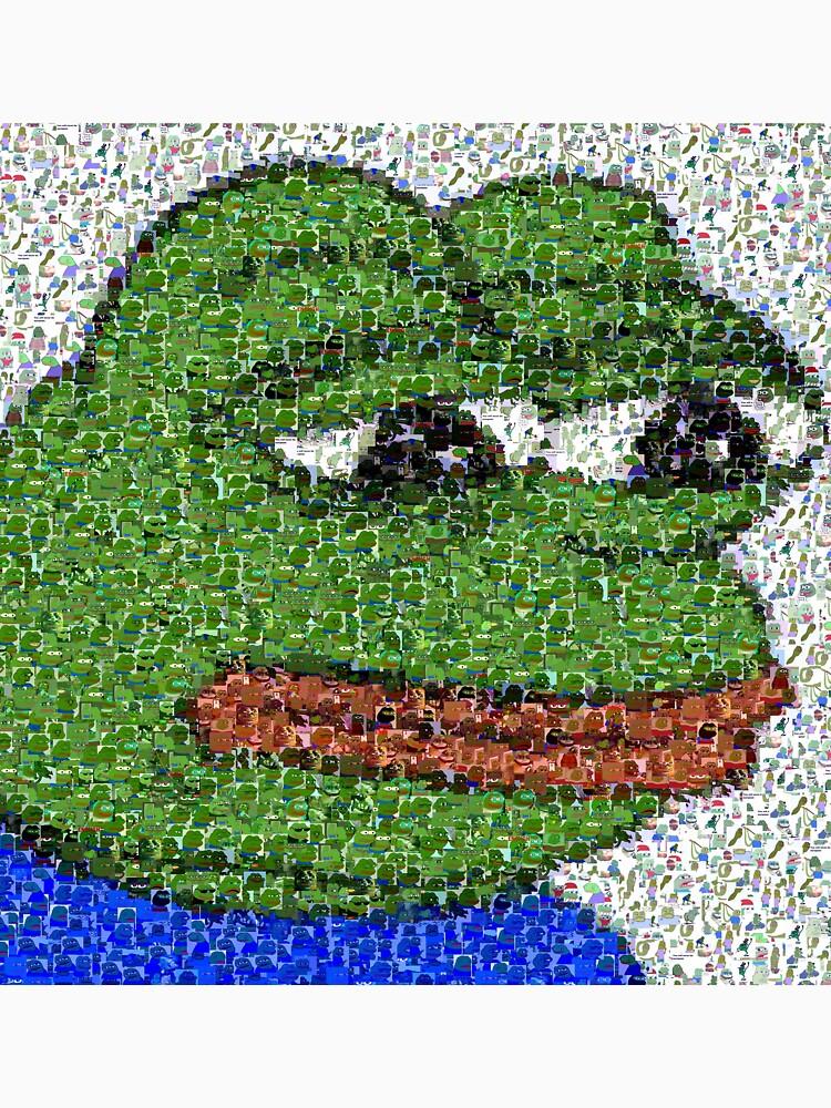 Traurige Pepe-Collage von jamsbrah