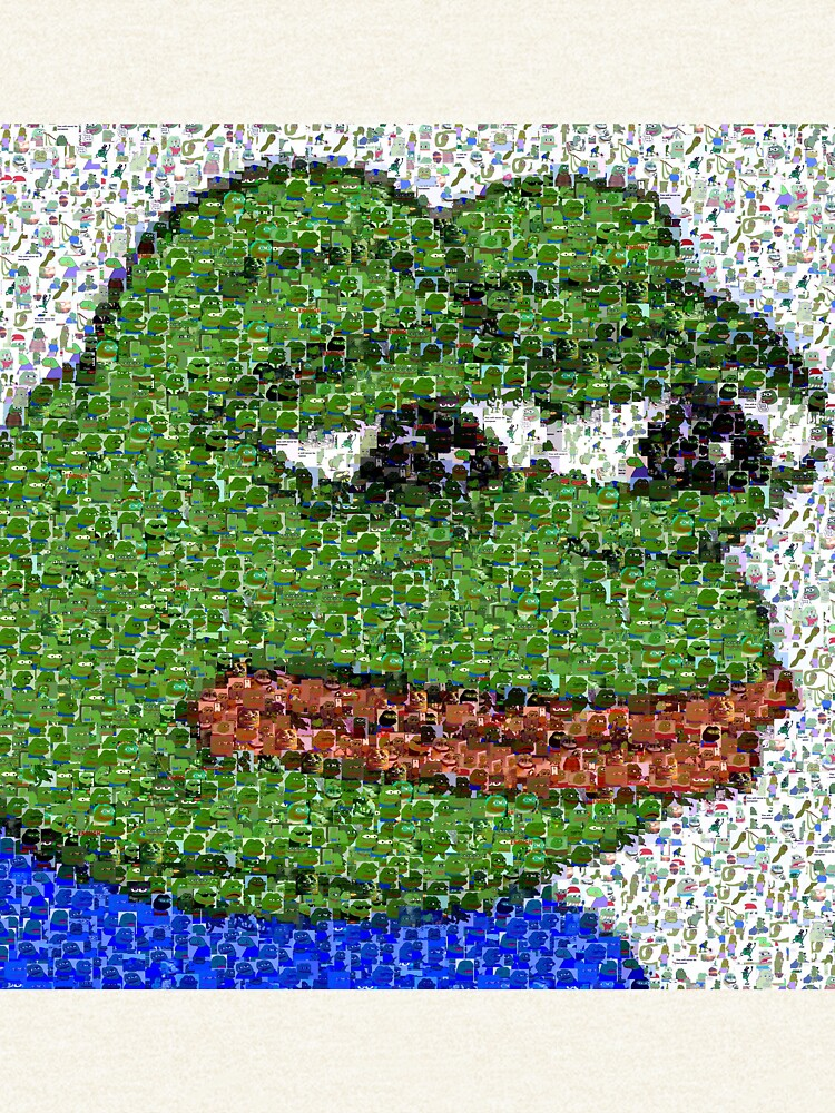 Traurige Pepe-Collage von jamsbrah