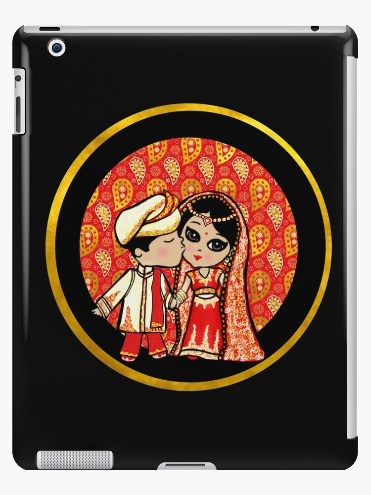 Cute Indian Wedding Bride Groom Stickers And Gifts Ipad Cases